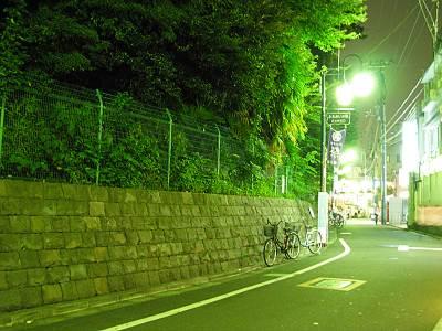 江古田富士を裏から