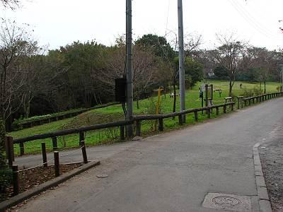 六道山公園の広場の一つ