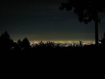 黒山展望台からの夜景