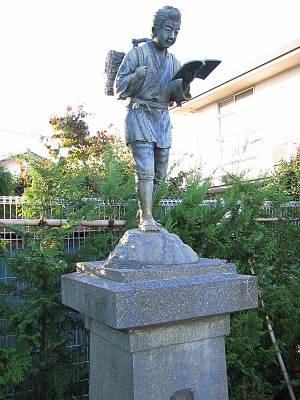 松井小学校の二宮尊徳(金次郎)像