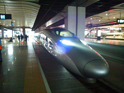 北京南駅での和諧号