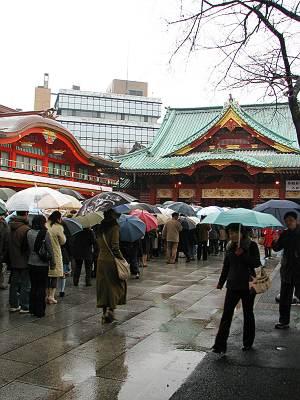 神田明神初詣の行列