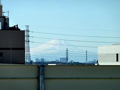 ララガーデン春日部から見た富士山