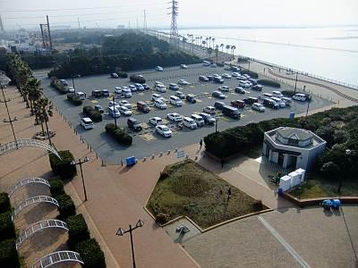 袖ケ浦海浜公園の駐車場