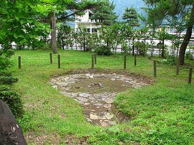 水と緑のふれあい館敷地内にある縄文時代の遺跡