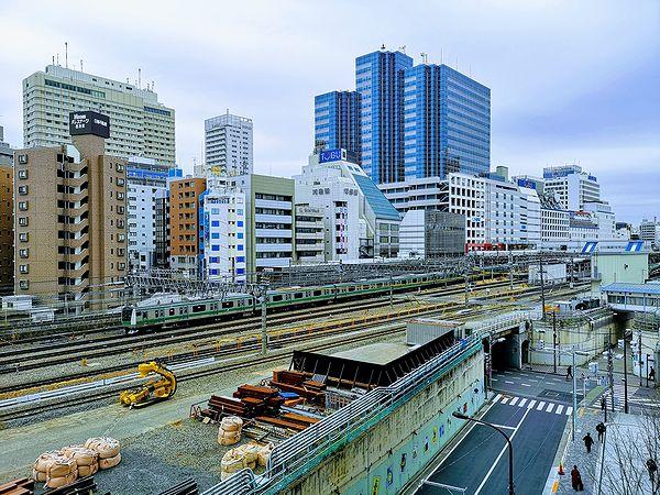 ダイヤデッキからのJR線