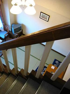 ホテルグリーンプラザ軽井沢 メゾネット上から下を見る
