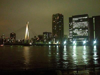 越中島公園からの夜景