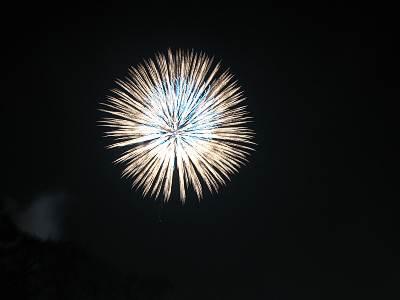 西武園園内から見た西武園花火