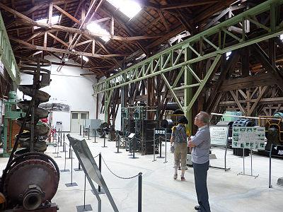 鉱山資料館内部