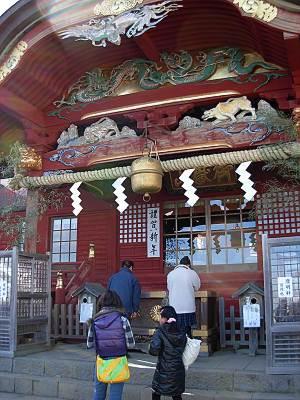 武蔵御嶽神社で初詣