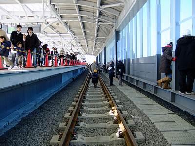 石神井公園駅上りホームの線路