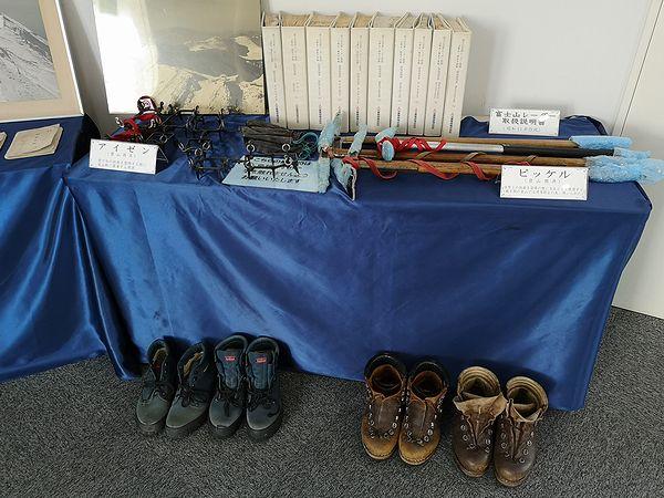 富士山測候所の備品展示