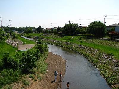 松柳橋から見た上流