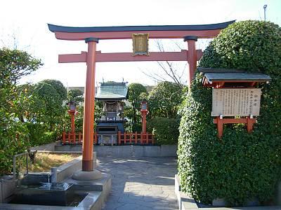 そごう横浜店の屋上の神社