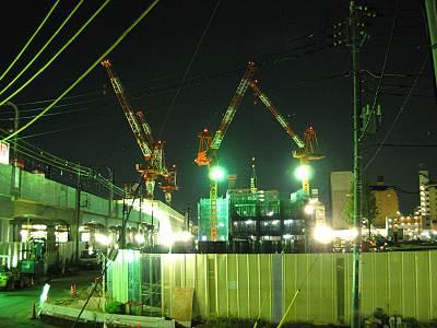 武蔵小金井駅南口再開発工事
