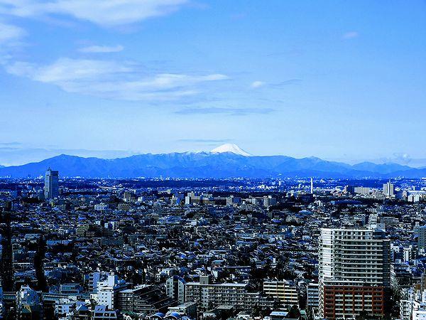 スカイキャロット展望ロビーからの富士山