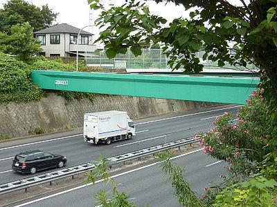 関越の上に野火止水路橋
