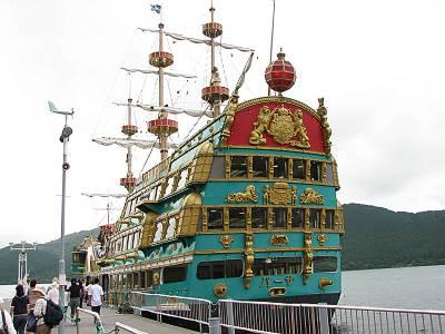 芦ノ湖の海賊船バーサ号