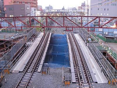 新小金井街道のアンダーパス工事