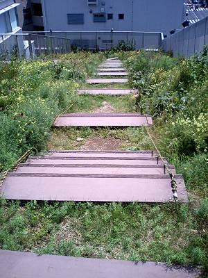 あんさんぶる荻窪の屋上庭園のスロープ
