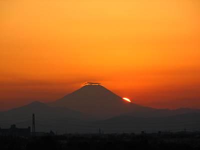 大晦日のダイヤモンド富士