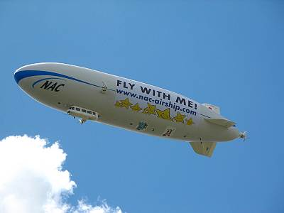 NAC(日本飛行船)の飛行船のアップ