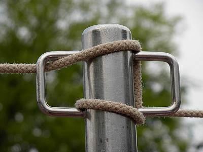 TDLの支柱へのロープの巻き方