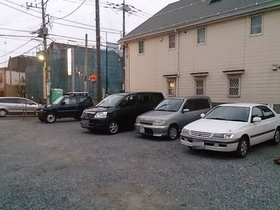 庚申湯の駐車場