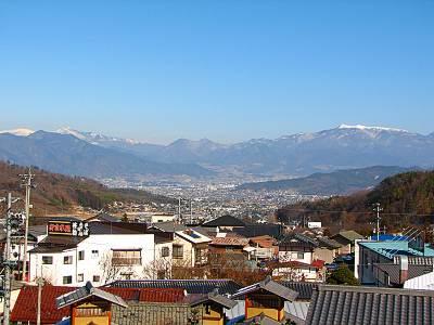 別所温泉 朝日館からの眺望