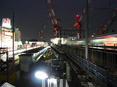 中央線武蔵小金井駅工事