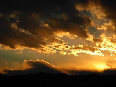 イオンモールむさし村山ミューから見た2007年最後の夕日
