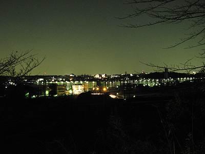 城山神社から南方面(夜)