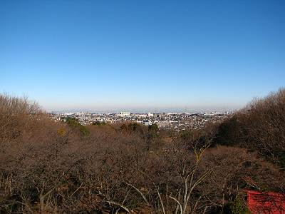 所沢市街地の向こうには群馬栃木方面のお山