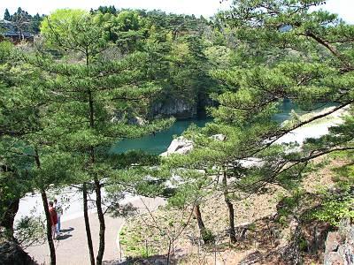 高徳中岩河川公園の見晴台から見る鬼怒川