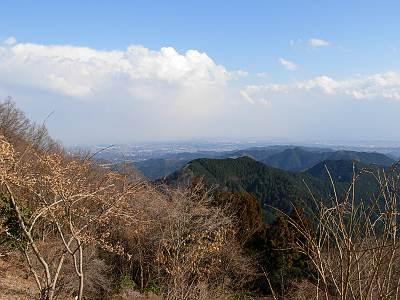 関八州見晴台からの展望(晴天時)