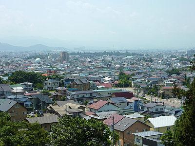 飯盛山から鶴ヶ城方面の展望