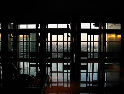 カレッタ汐留のエレベータホールからの展望