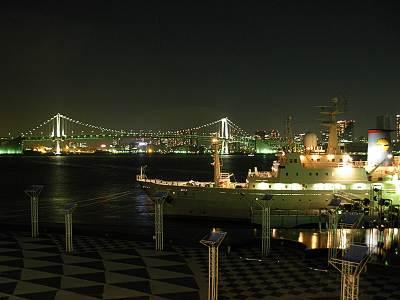 晴海客船ターミナルからレインボーブリッジ方面