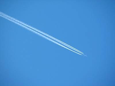 清瀬市で見た飛行機雲