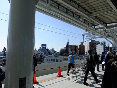 石神井公園駅上りホームからの富士山ビューポイント