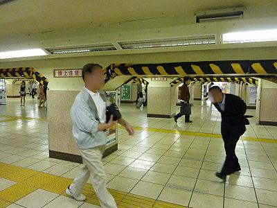 上野駅頭上注意