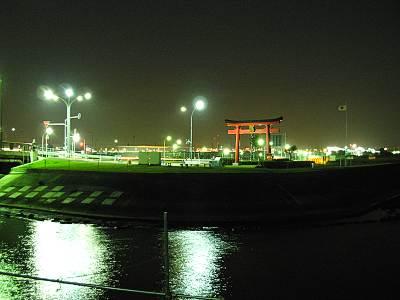 海老取川の多摩川合流地点