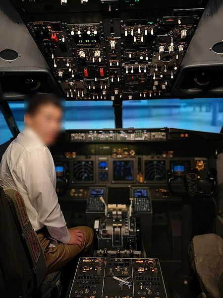 B737操縦席
