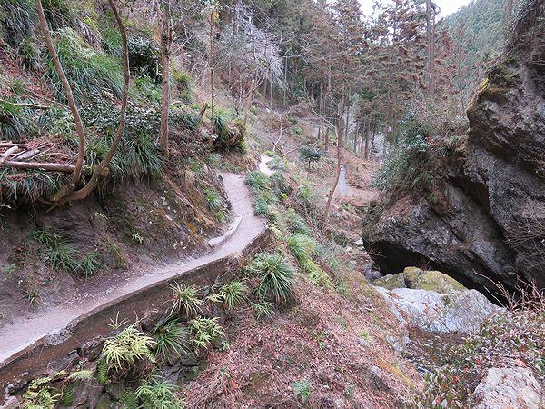 秩父華厳の滝への道のり