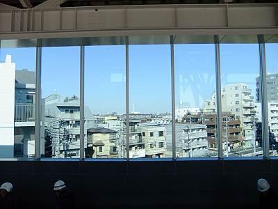石神井公園駅上りホームからの北方面展望