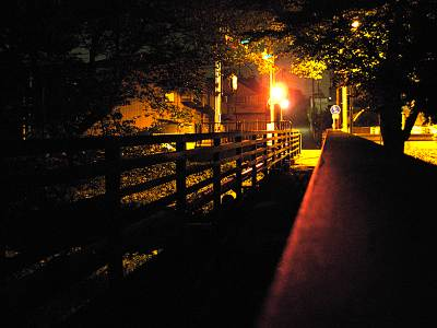 所沢市南陵中学校下の橋