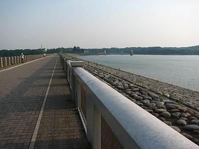 狭山湖(山口貯水池)堤防(堤体)