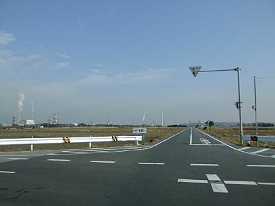 金田から海浜公園への道