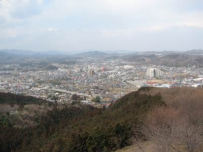仙元山見晴らしの丘公園からの展望